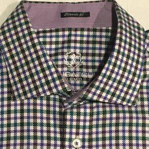 Bugatchi Uomo XL Cactus Check Shirt NWT $149.99